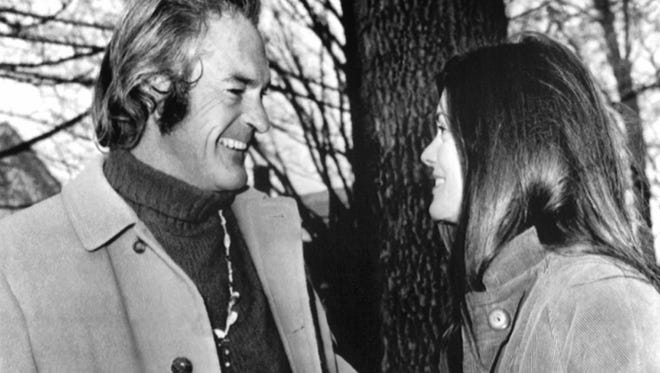 """The high priest of LSD"" Timothy Leary talks on Dec. 11, 1967, with his wife Rosemary after he was arraigned on various charges concerning the possession and sale of dangerous drugs. Part of his ashes were brought to Burning Man this year for a memorial ceremony led by actress Susan Sarandon."