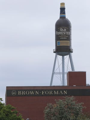 The Old Forester water tower at Brown-Forman.