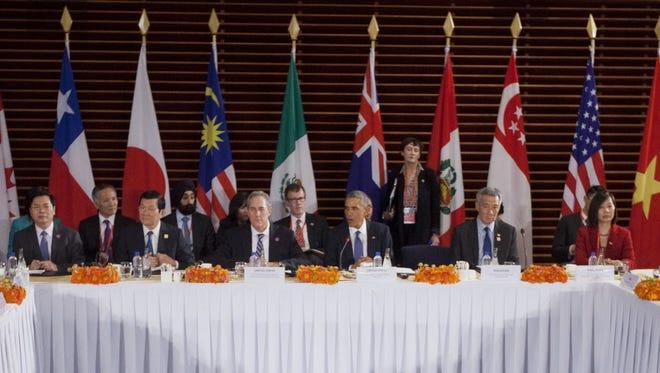 Trans-Pacific trade negotiators this week.