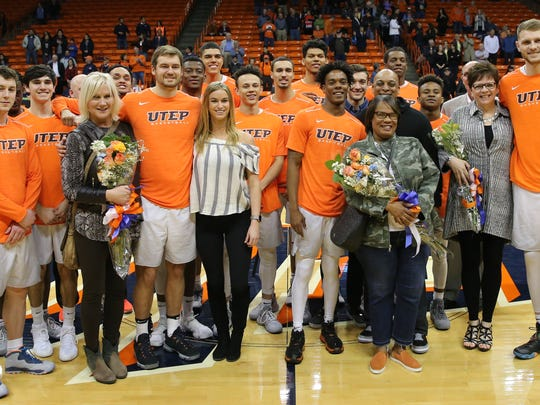 UTEP said goodbye to its seniors Saturday night at the Don Haskins Center.