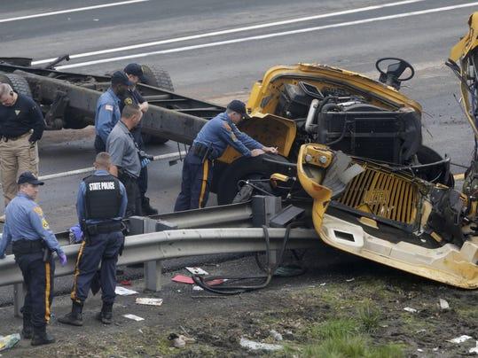 School Bus Dump Truck Crash