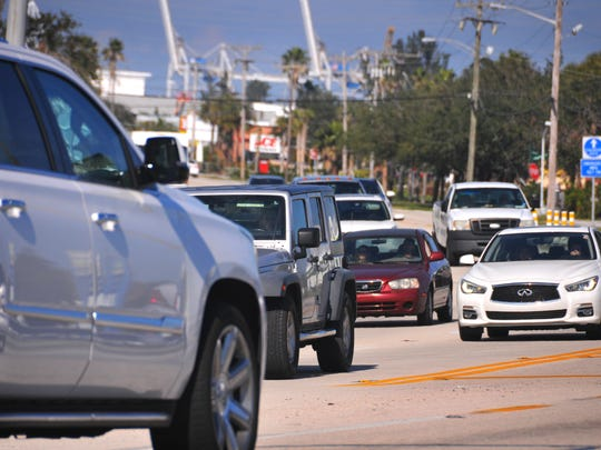 Traffic on A1A in Cape Canaveral near where Atlantic Avenue branches off from A1A. The stretch of A1A in Cocoa Beach and Cape Canaveral north of 520 is one of the most dangerous roads for pedestrians.