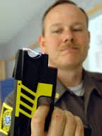 The Taser is an electroshock weapon sometimes used in law enforcement.