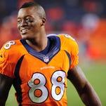 Denver Broncos wide receiver Demarius Thomas