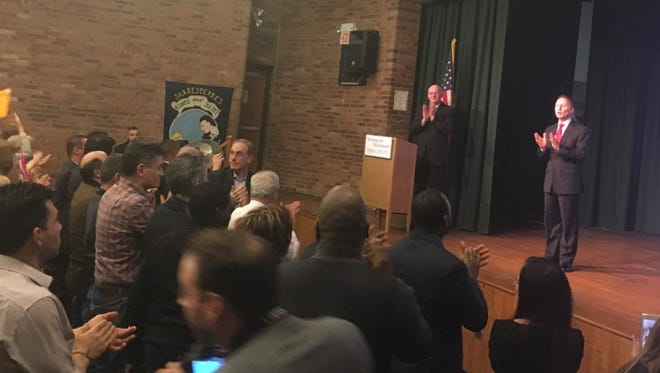 County Executive Rob Astorino touched on several county topics in Port Chester on Wednesday.