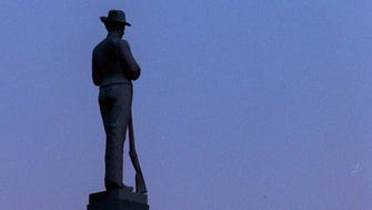 The Confederate monument in downtown Franklin.