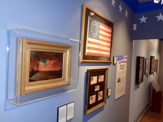 The Seeing Stars exhibit at the Twin Lights Museum, which features historic flags, patriotic artifacts and important works of art, is open through December at the museum in Highlands.