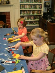 Sisters Sydney and Grace Maslovsky, both of Watchung, visited SCLSNJ's Watchung Library branch on May 31 to craft paper bees in the branch's Mini-Maker Art Space. Children — and adults — are invited to challenge themselves to see what they can create with the supplies on hand. Visit the branch to discover a new craft challenge every week throughout the summer.