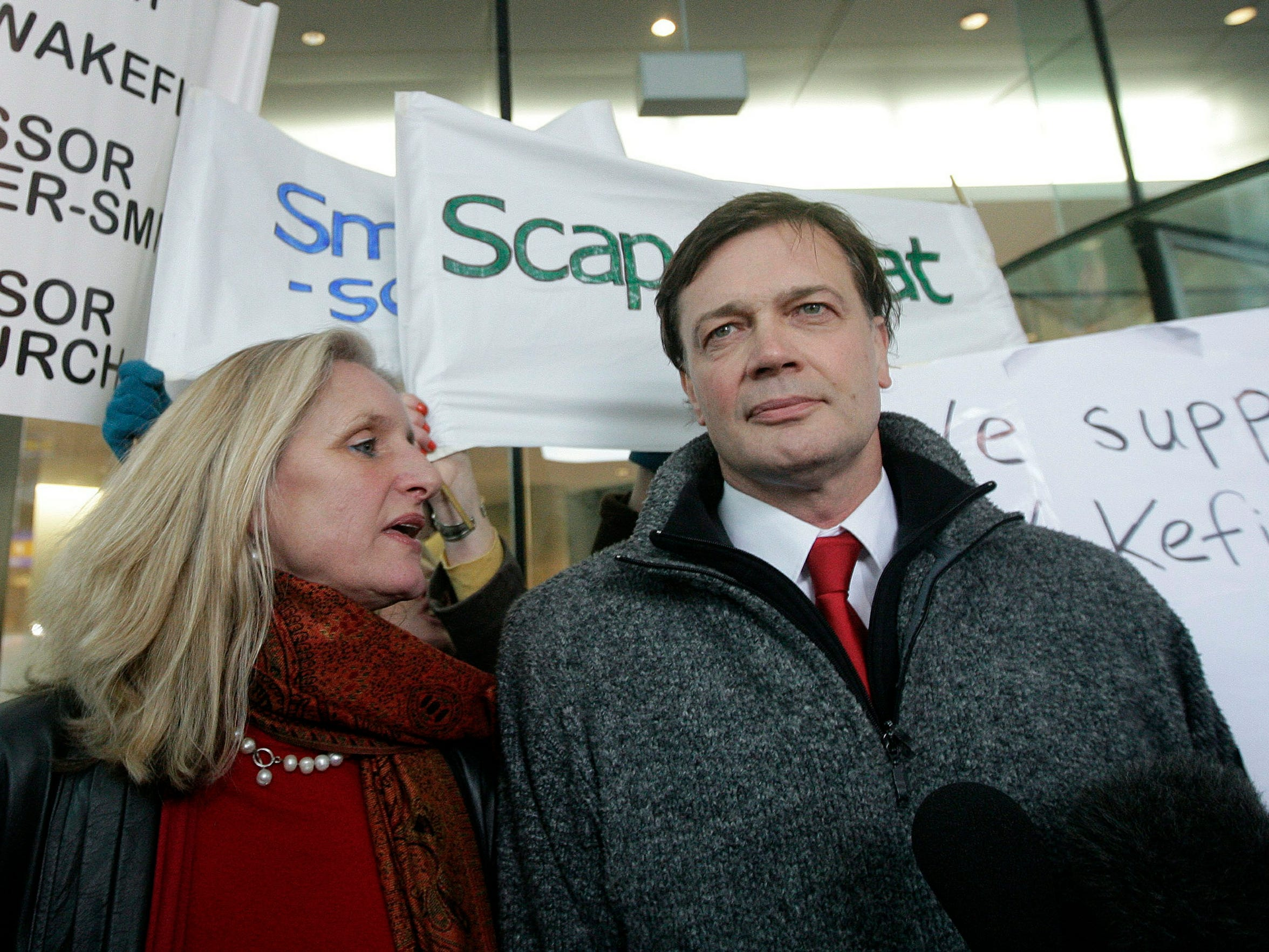 British doctor Andrew Wakefield and his wife,  Carmel, arrive at the General Medical Council  in central London on Jan. 28, 2010.
