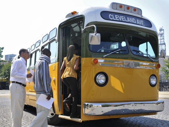 The 1950s style bus will be parked outside the Rosa