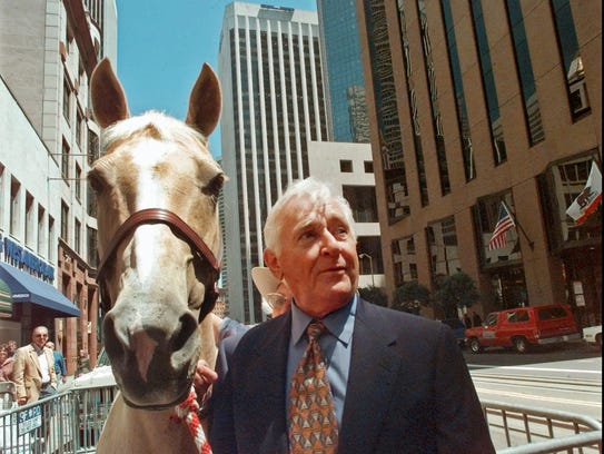 In July 1997, Alan Young posed with Mister Ed-For-A-Day,