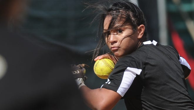 Abilene High's Alyssa Washington spent Monday in a playoff basketball team before traveling with the softball team for the Liberty Hill tournament. Her performances in both sports earned her Local Player of the Week honors for the week ending Feb. 16.