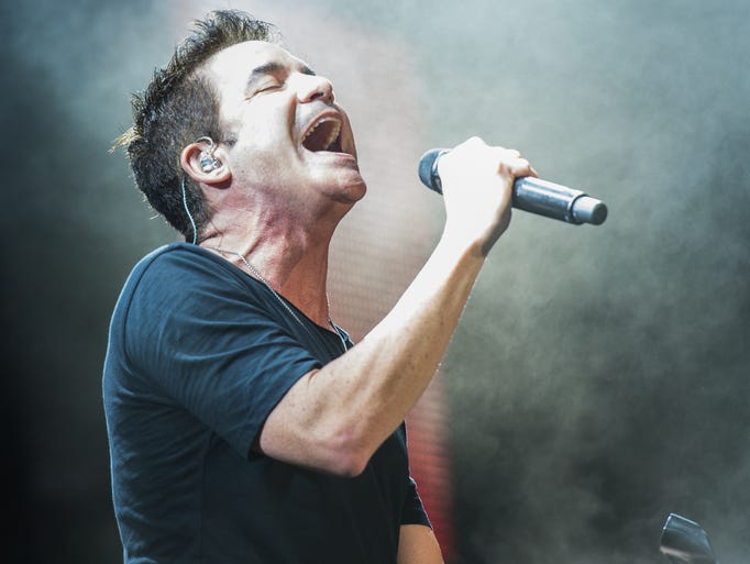 Patrick Monahan of Train performs as Train's Play That