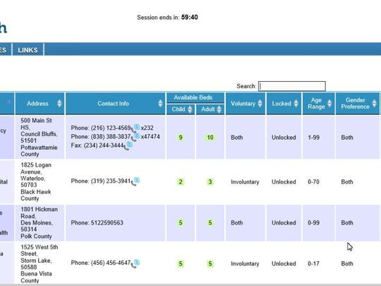 hospital tracking system screen shot