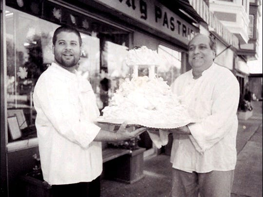 Richard Petrone Jr. (left) helped his dad run the family bakery.