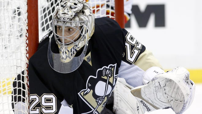 Pittsburgh Penguins goalie Marc-Andre Fleury is being tested for mumps.