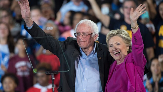 Hillary Clinton and Bernie Sanders in November.