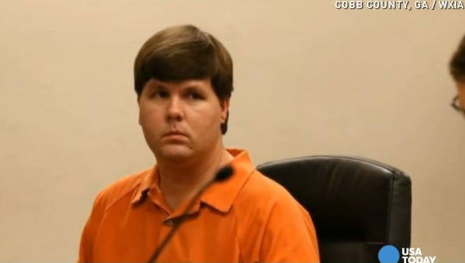 Ross Harris at the hearing for the death of his son after leaving him in a vehicle for 7 hours.