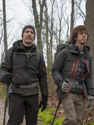 Dave Clark and his son Matt on a trail near their New
