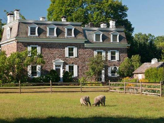 The Woolverton Inn bed and breakfastof Stockton is a country estate offering privacy and luxury on its ten acres.