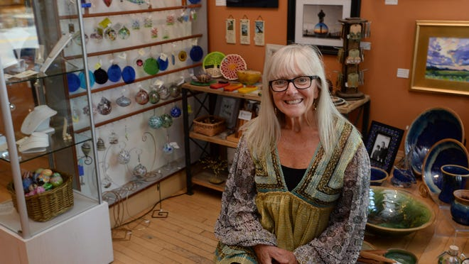 Deborah Vahanian, 71, shown June 18, owner of Glass Growers Gallery, is expected to complete a deal to sell the business on Sept. 14.