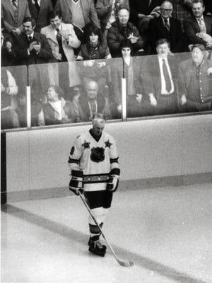 "With the cheers of ""Gor-die!"" once again thundering in his ears, Gordie Howe thrilled his fans in Detroit once again when he played in the National Hockey League All-Star Game at Joe Louis Arena on Feb. 5, 1980."