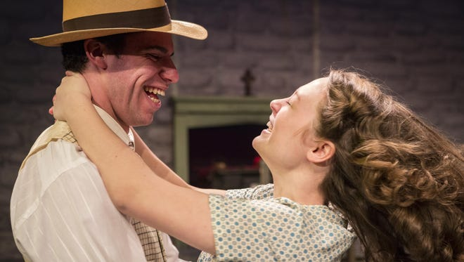 """Eric Berger and Stephanie Herlihy star in the Binghamton University production of """"Dancing at Lughnasa."""""""