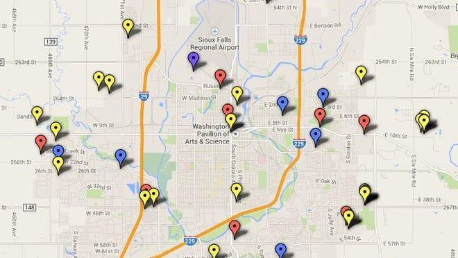 Building permits map