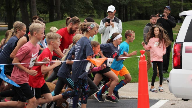 Students led the way at the start of the School Nurse 5K Run/Walk held at Holland West Elementary on Thursday, Oct. 3, 2019.