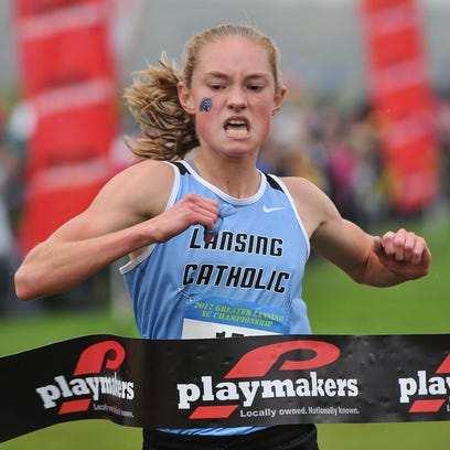 Lansing Catholic senior, Olivia Theis is all alone