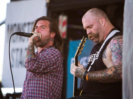 Every Time I Die at Warped Tour 2014 at Quail Run Park in Mesa, Arizona on Wednesday, June 18, 2014.
