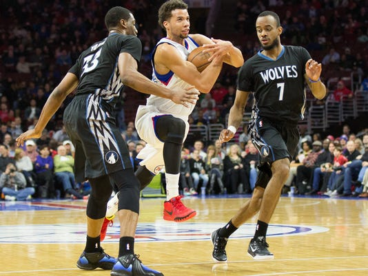 NBA: Minnesota Timberwolves at Philadelphia 76ers
