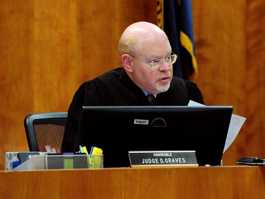 Marion County Circuit Court judge Dennis Graves speaks in court in June.