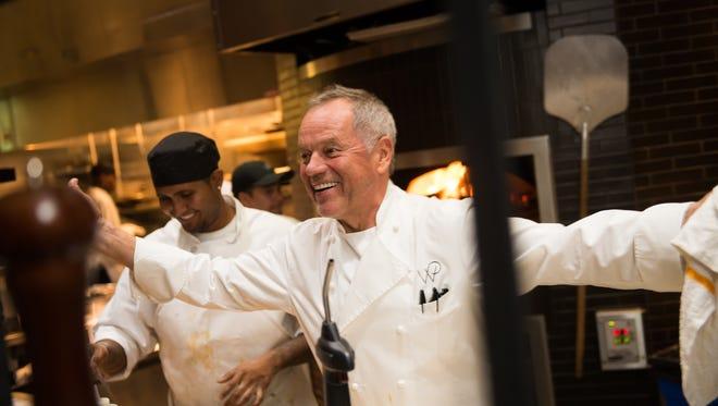Wolfgang Puck in his kitchen at WP Kitchen + Bar.