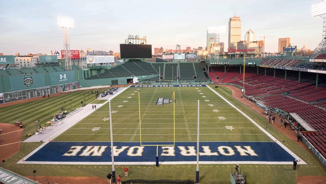 A general view of Fenway Park before the Nov. 21  game between the Notre Dame Fighting Irish and the Boston College Eagles.