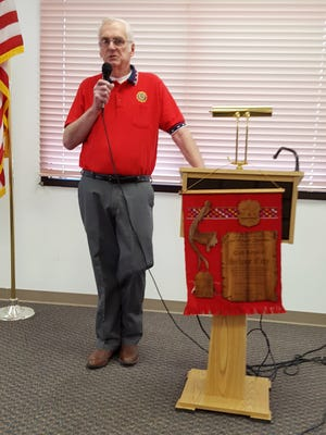 Ray Davis, commander of the American Legion Post 18 spoke to the Silver City Rotary Club about the American Legion's annual Constitutional Speech Contest on Tuesday.
