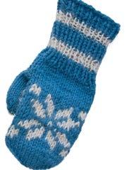 A blue mitten