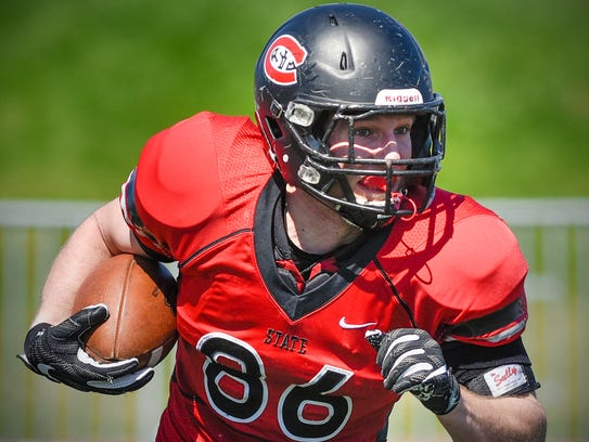 St. Cloud State tight end Sam Hartman finds room for