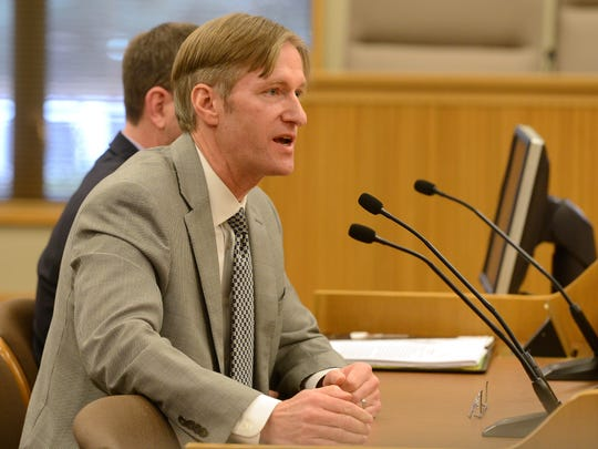 State Treasurer Ted Wheeler speaks to the Joint Subcommittee on Capital Construction during a hearing on Tuesday, March 4, 2014.