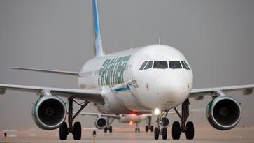 Reports: Man punches pregnant woman, service dog on Frontier flight to Orlando