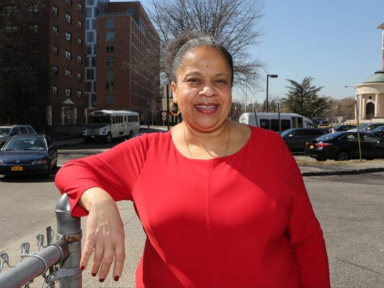 Heather Miller, the Executive Director of the Thomas H. Slater Community Center in White Plains, is pictured near the complex.