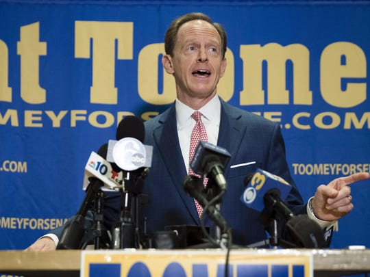 Sen. Pat Toomey, R-Pa., campaigns Oct. 11 in Villanova, Pennsylvania.