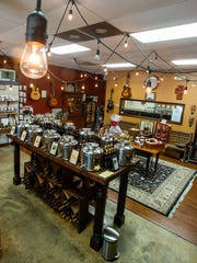 Olive oil is shown at the Vintage Olive in Montgomery,
