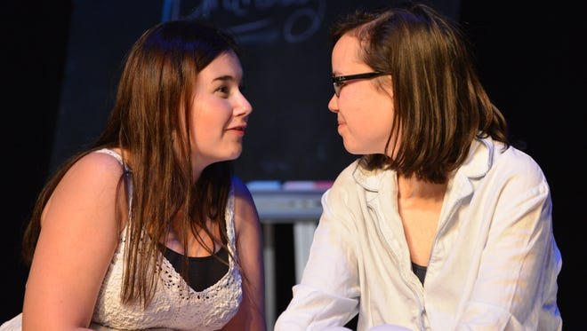 """Olivia Ulmer, left, and Ellie Conniff in """"Names,"""" written and directed by 16-year-old Kaiya Linkugel of Highlands High School in Fort Thomas."""