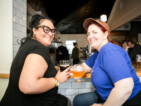 These ladies were all smiles at Wren House Brewing Company during Beermuda Triangle, an Arizona Beer Week 2017 event in Phoenix.