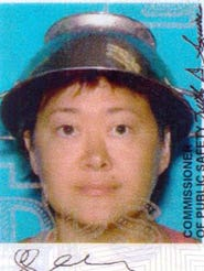 Jessica Steinhauser, 41, of St. George, Utah, had her state driver's license photo taken wearing a colander, the official headgear of the Church of the Flying Spaghetti Monster.