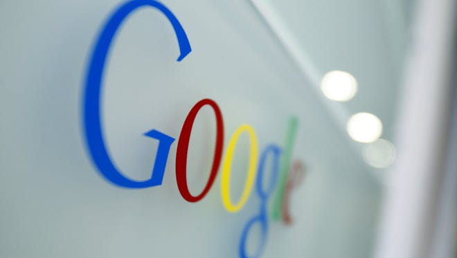 The Google logo is seen at  Google's headquarters in Brussels on March 23, 2010.