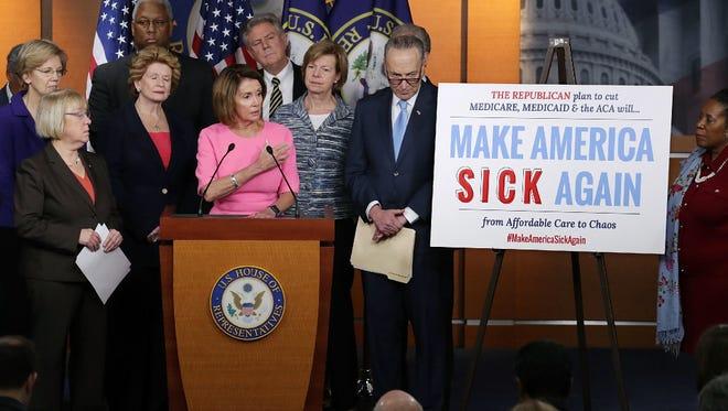 Democrats speak on GOP Obamacare repeal plan, Washington, D.C>, Jan. 4, 2017.