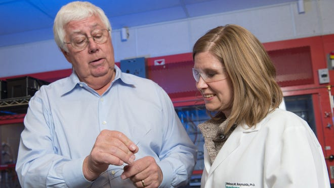 Cardiologist Dr. Gary Luckasen and Chemistry Professor Melissa Reynolds are two of the collaborators who will be bringing medical advances from the labs of Colorado State University to patients at Poudre Valley Hospital and Medical Center of the Rockies under a new agreement between the university and the hospitals.