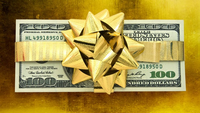 Gift-wrapped money!